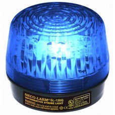 SECO-LARM SL-126Q/B Strobe Light, 6~12VDC, Blue, UL - PAM Distributing Co - 1