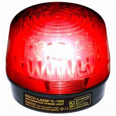 SECO-LARM SL-126Q/R Strobe Light, 6~12VDC, Red, UL - PAM Distributing Co - 1