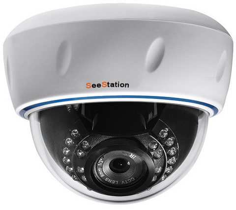SeeStation (IP) CIP2210V-1W IP Dome Camera Interior  1.3MP IR POE ONVIF 2.8-12mm Varifocal Lens - PAM Distributing Co