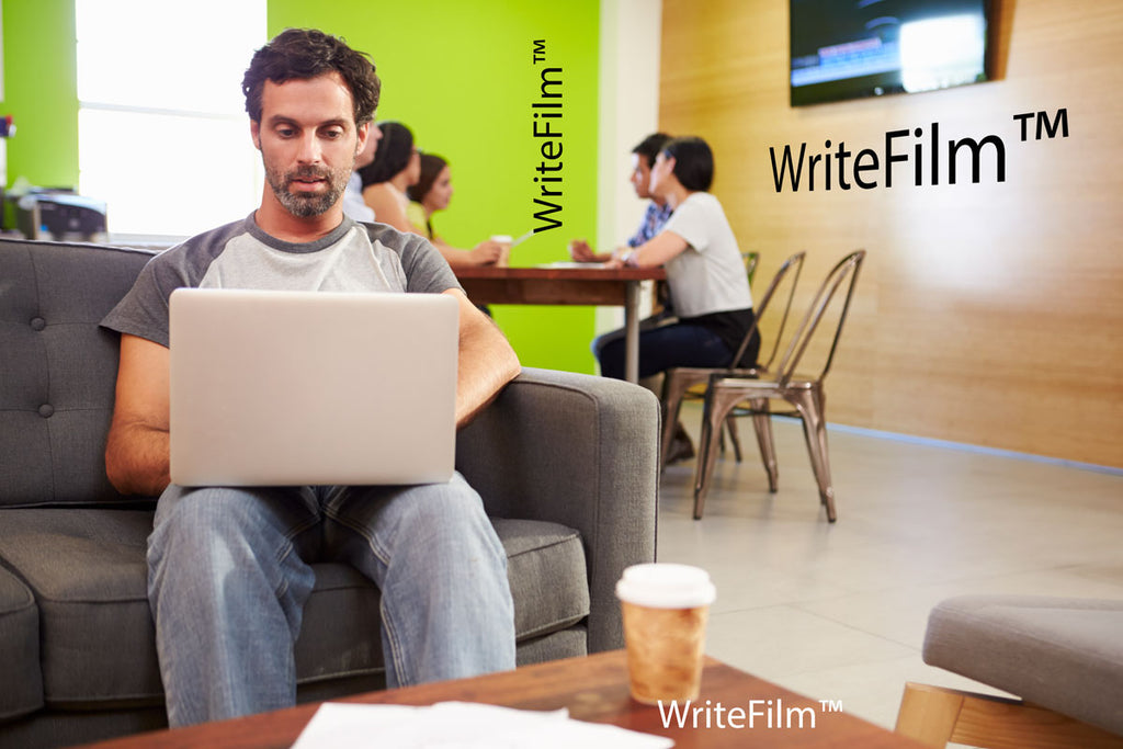 WriteFilm - Gloss Dry Erase Film in workspace