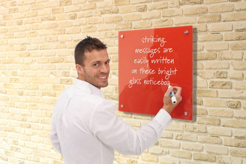 MagGlass™ Rectangle Coloured Ferrous Panels - dry-erase, magnets