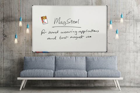 MagSteel™ Framed Ferrous Panels - dry-erase, magnets
