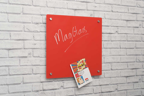 MagGlass™ Square Coloured Ferrous Panels - dry-erase, magnets