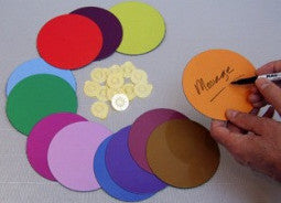 MagLite™ Dry-Erase Coloured Disc Magnets - ferrous walls