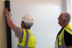 MagWrite being installed using MagVOV adhesive by contractor