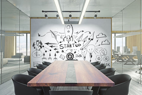 WriteWallpapers™ Gloss White Dry-Erase Wallcovering