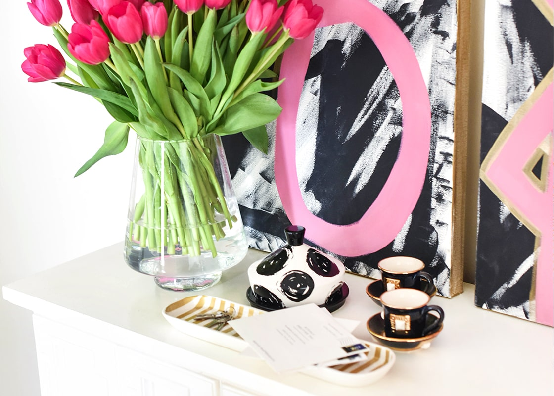 Gold Stripe Oval Tray