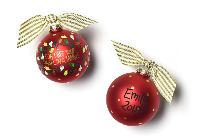 Don't Get Your Tinsel In A Tangle Glass Ornament