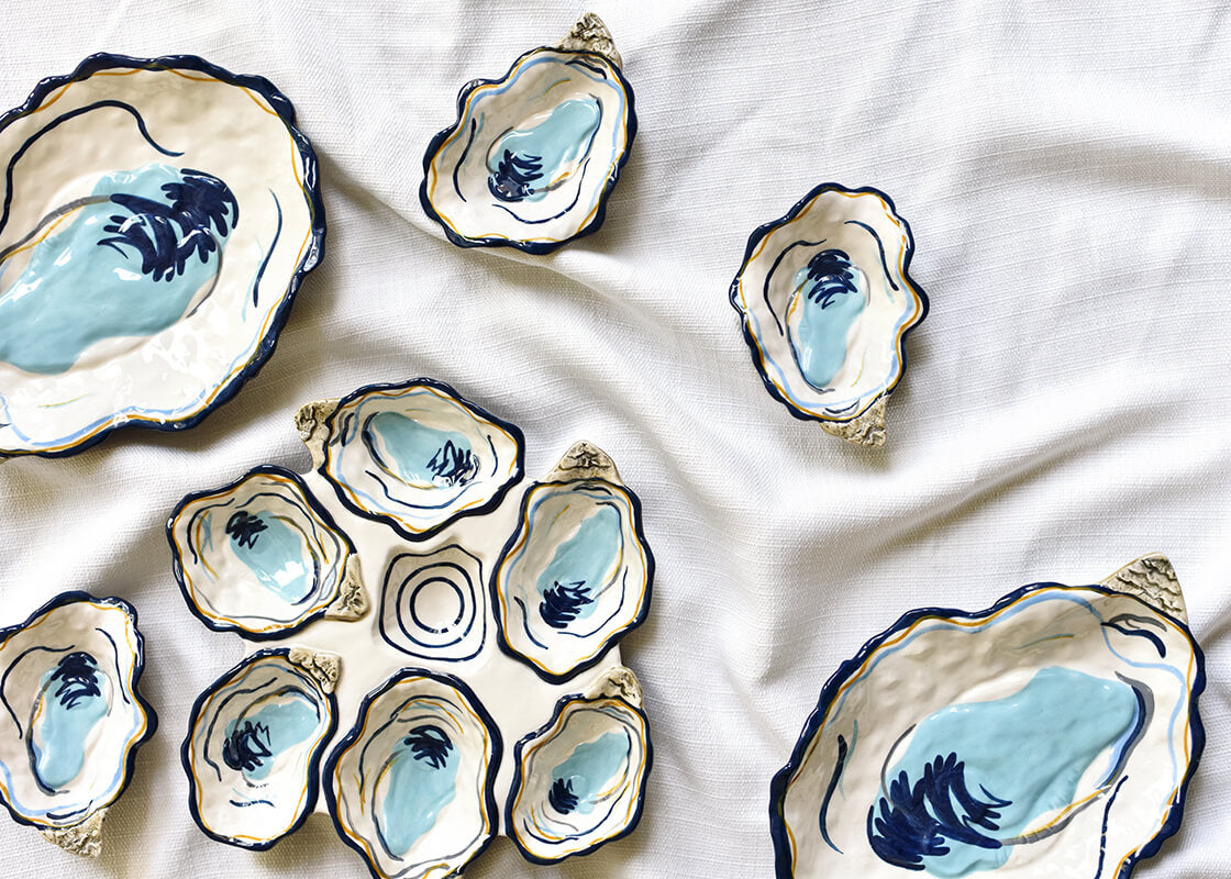 Oyster Trinket Bowl Coton Colors By Laura Johnson