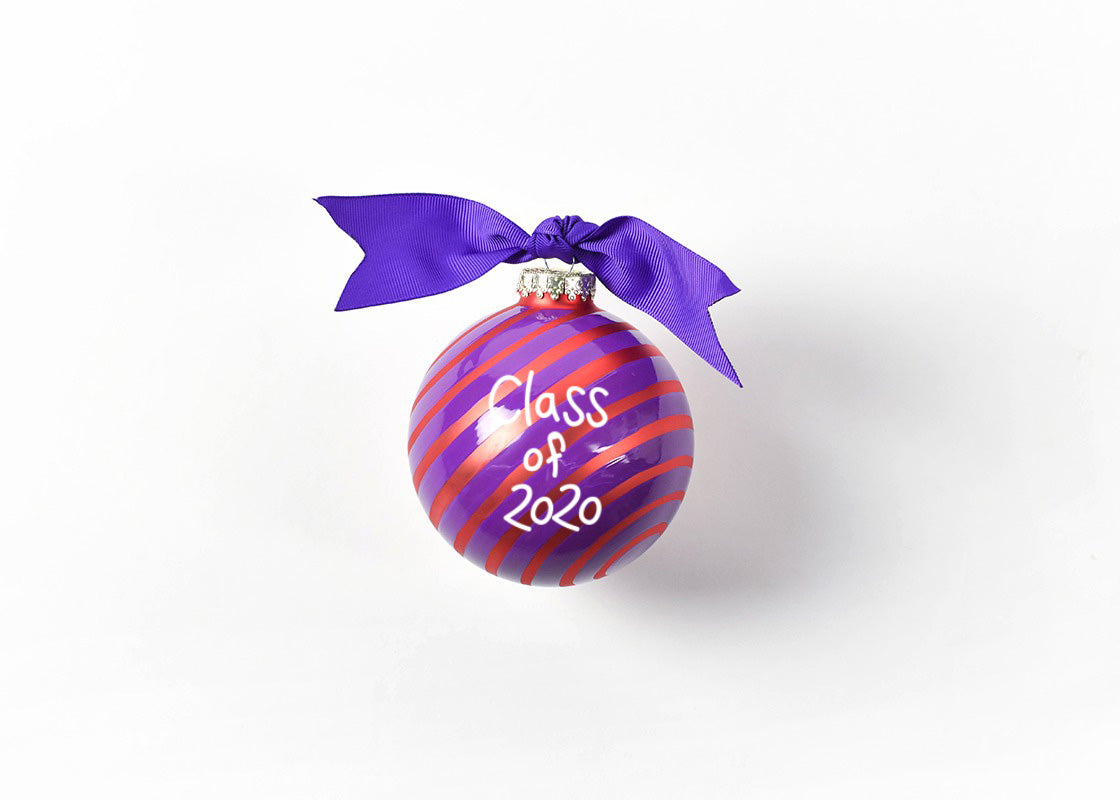 Clemson Word Collage Glass Ornament