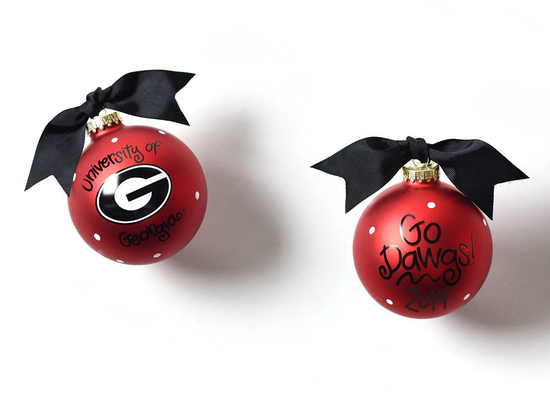 Georgia Logo Glass Ornament