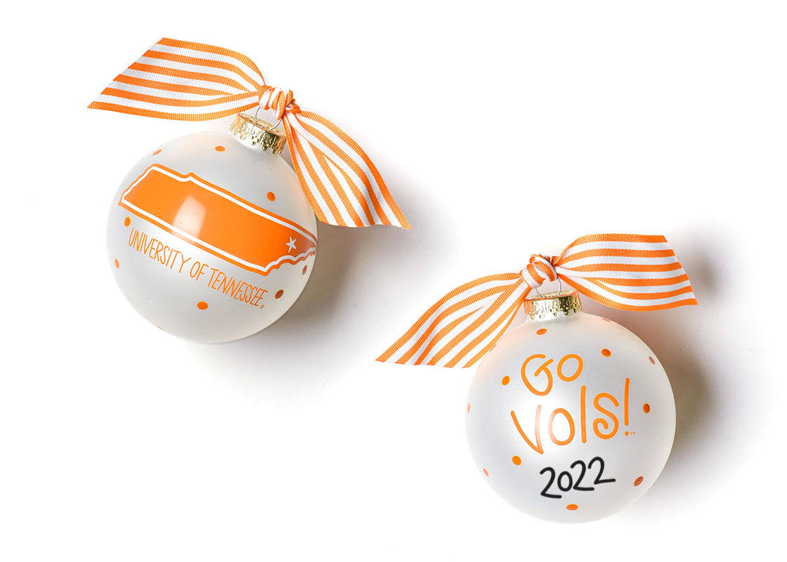 University of Tennessee Glass Ornament - State