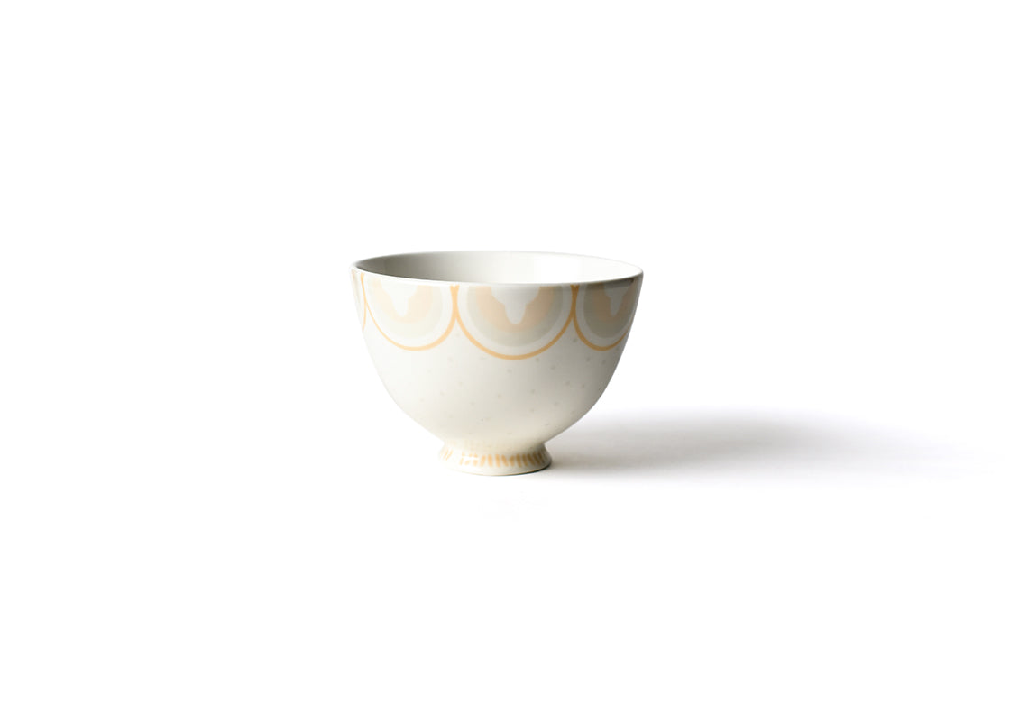 Blush Arabesque Trim 6in Footed Bowl