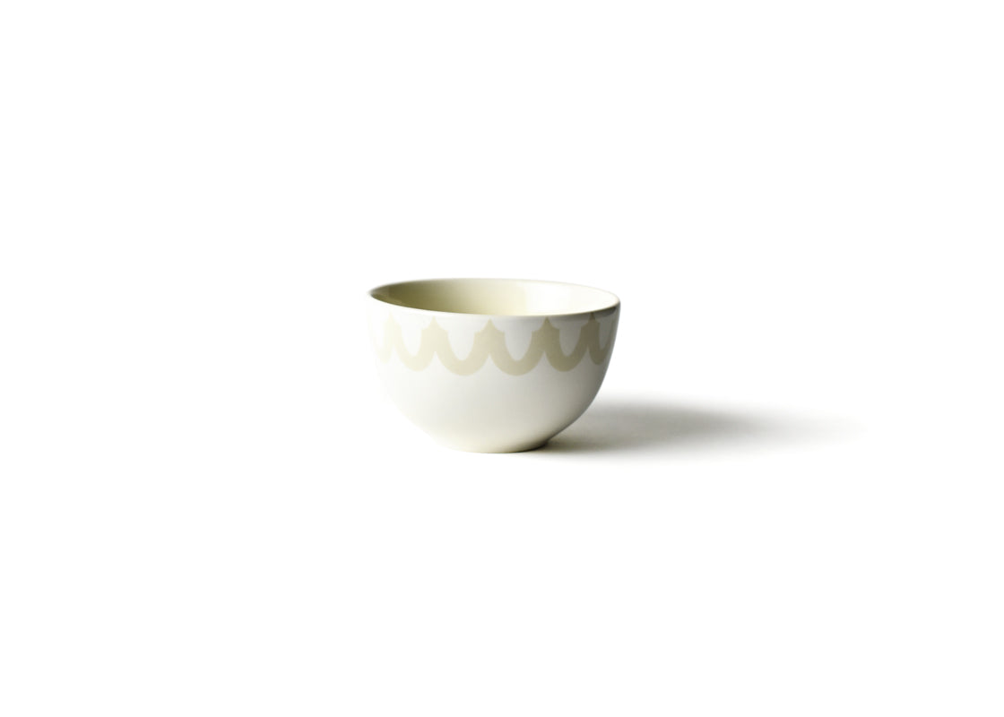 Ecru Arabesque Trim Small Bowl