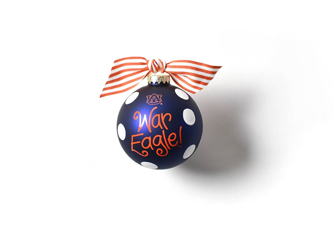 Auburn Glitter Dot Glass Ornament