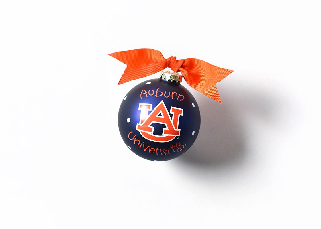 Auburn Logo Glass Ornament