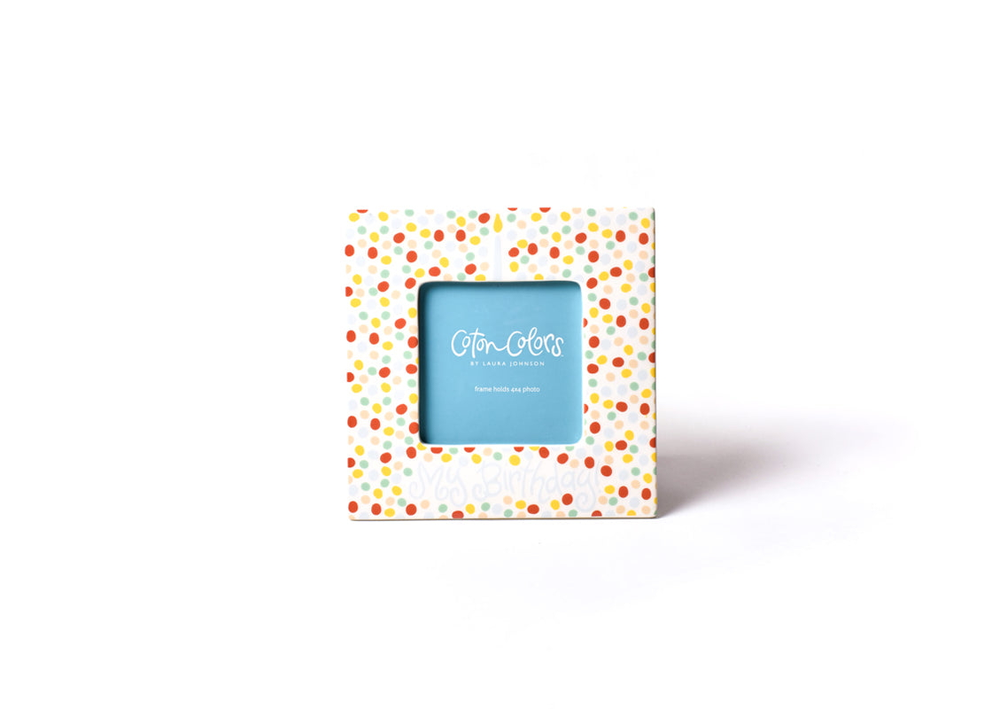 Blue Small Dot Birthday Square Frame