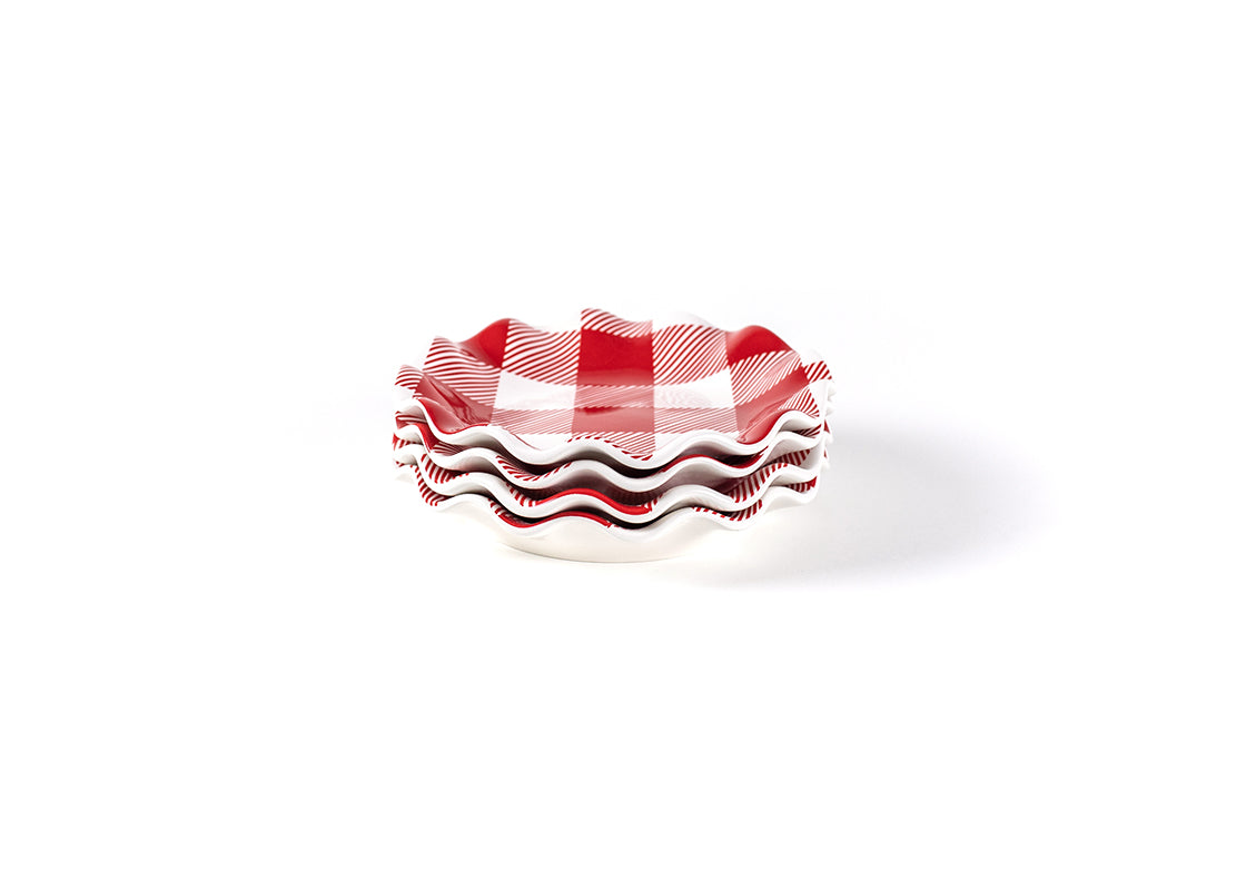 Buffalo Ruffle Salad Plate, Set of 4