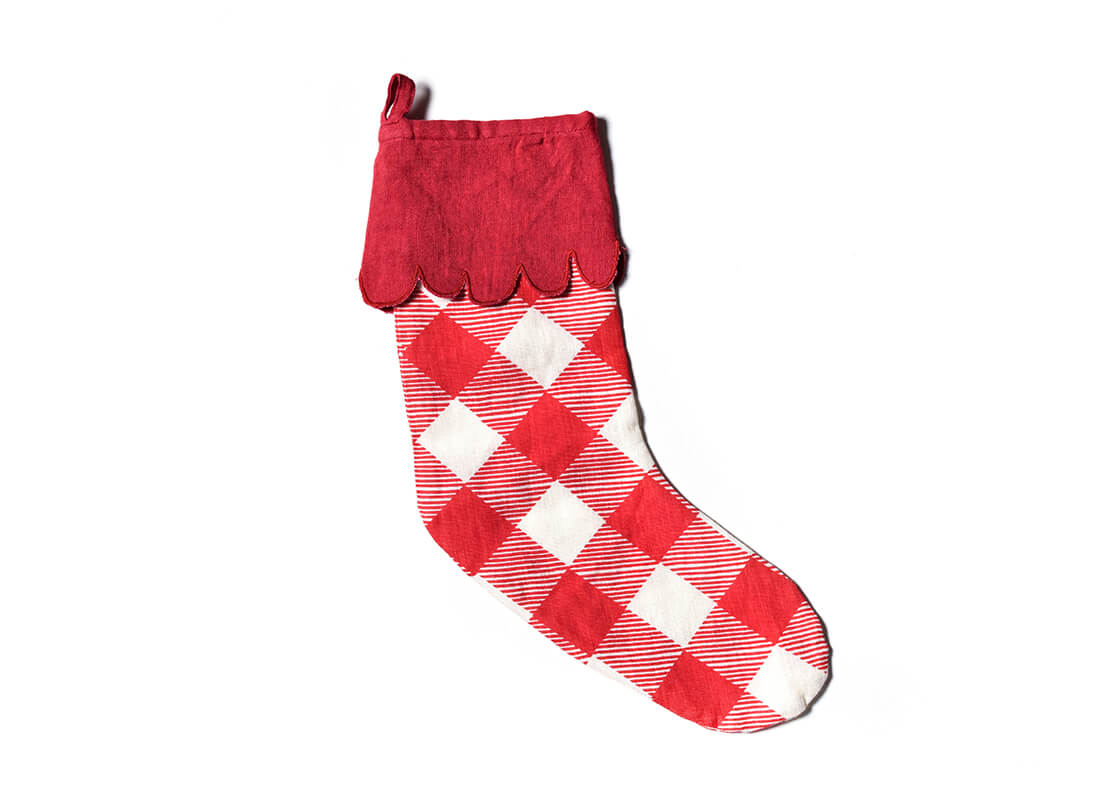 Red Buffalo Stocking With Trim