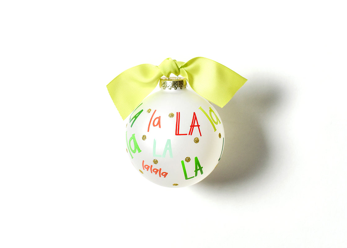 Fa La La La Glass Ornament