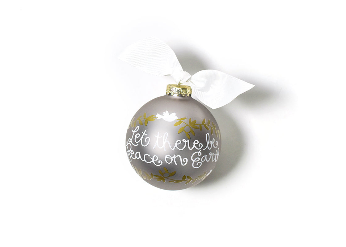 Peace On Earth Glass Ornament