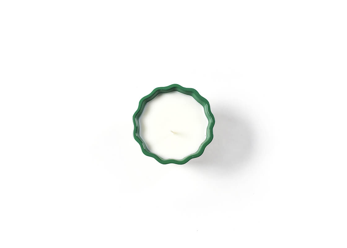 Celebrate Emerald Double Dot Ruffle Appetizer Bowl Candle