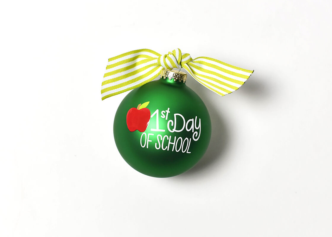 First Day Of School Glass Ornament