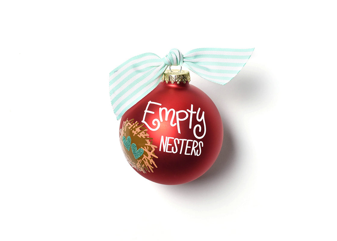 Empty Nesters Glass Ornament