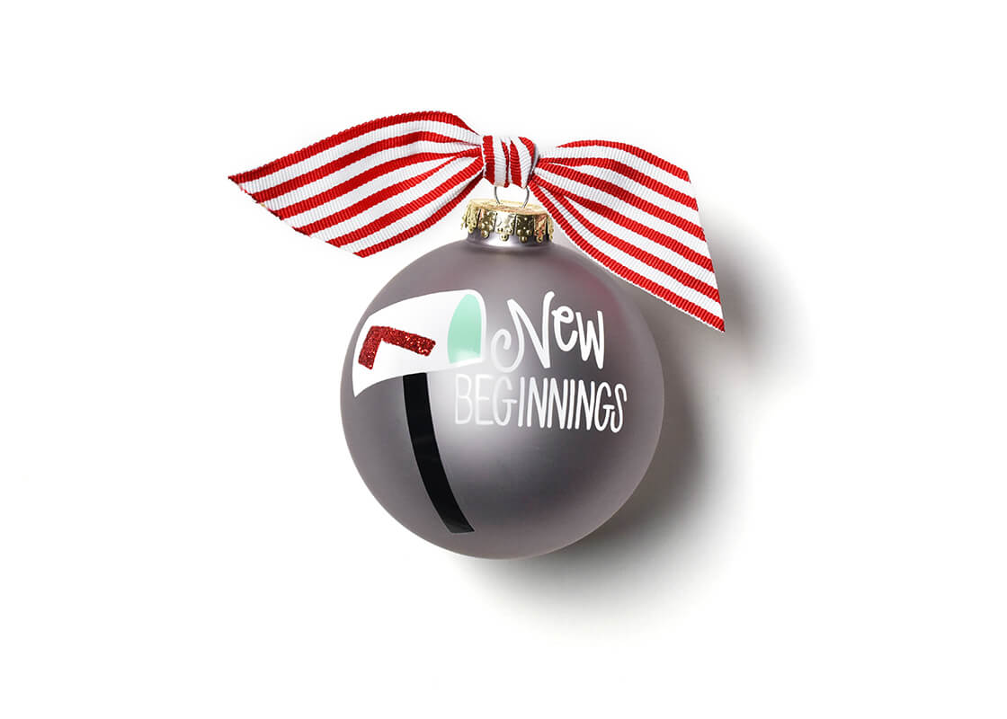 New Beginnings Mailbox Glass Ornament