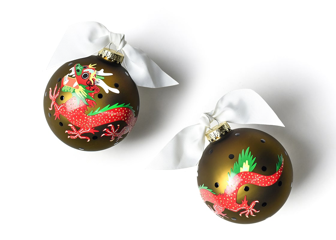Chinese Dragon Glass Ornament