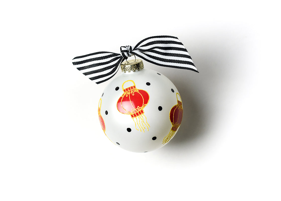 Chinese Lanterns Glass Ornament