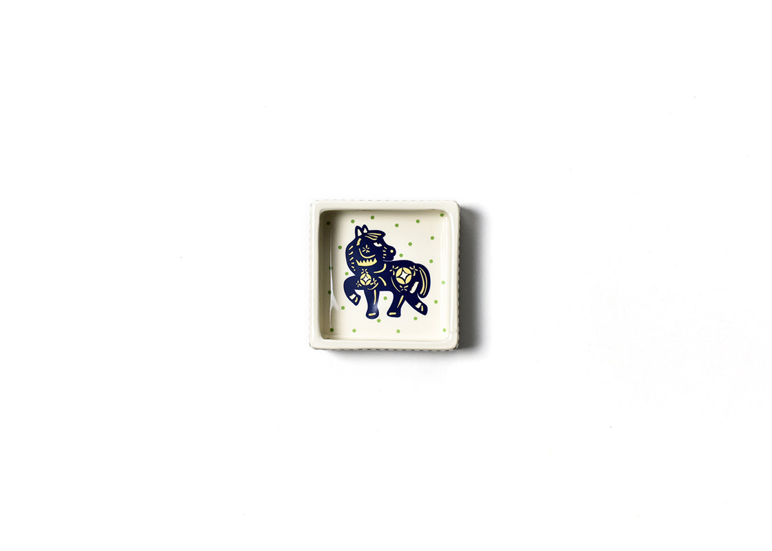 Chinese Zodiac Horse Square Trinket Bowl
