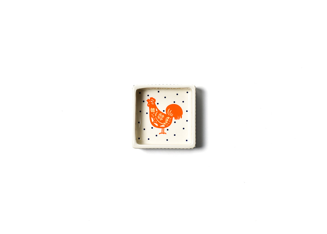 Chinese Zodiac Rooster Square Trinket Bowl