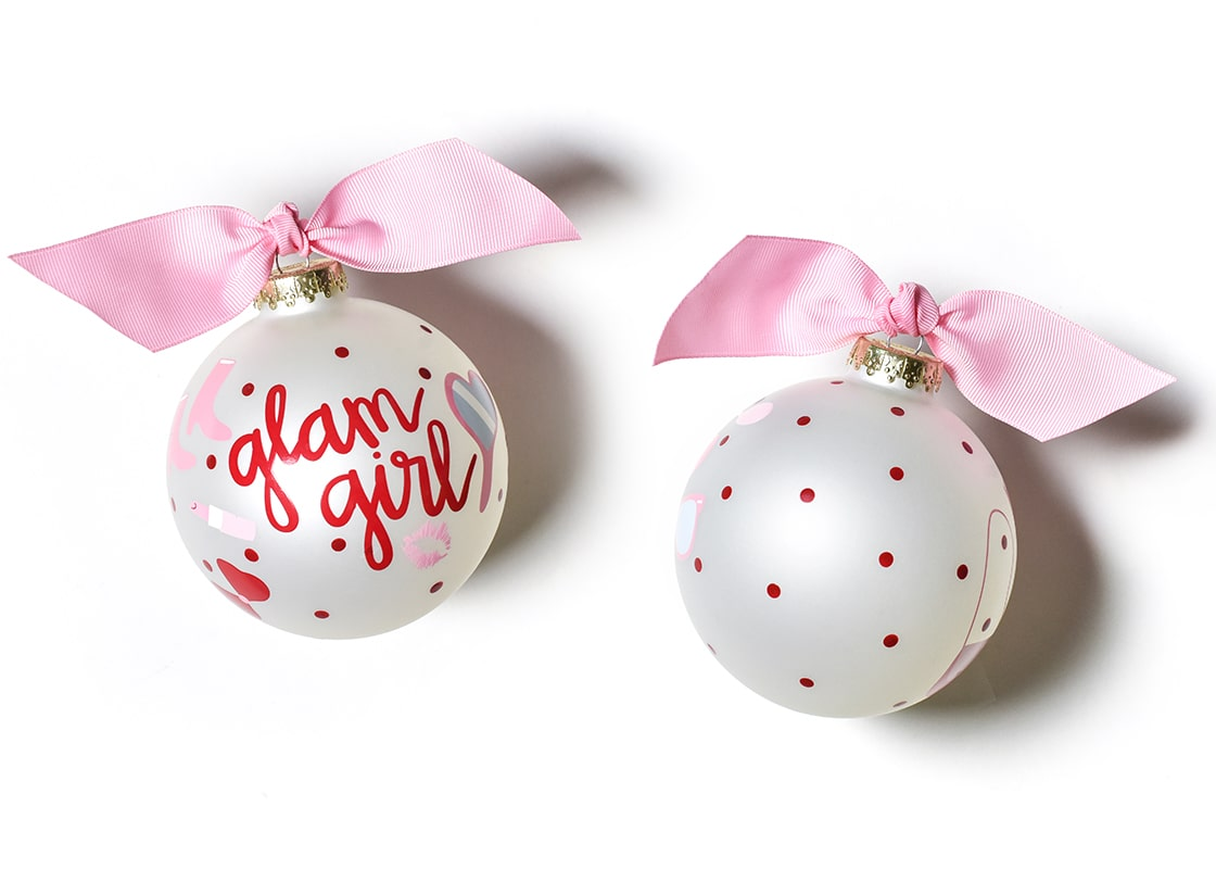 Glam Girl Glass Ornament