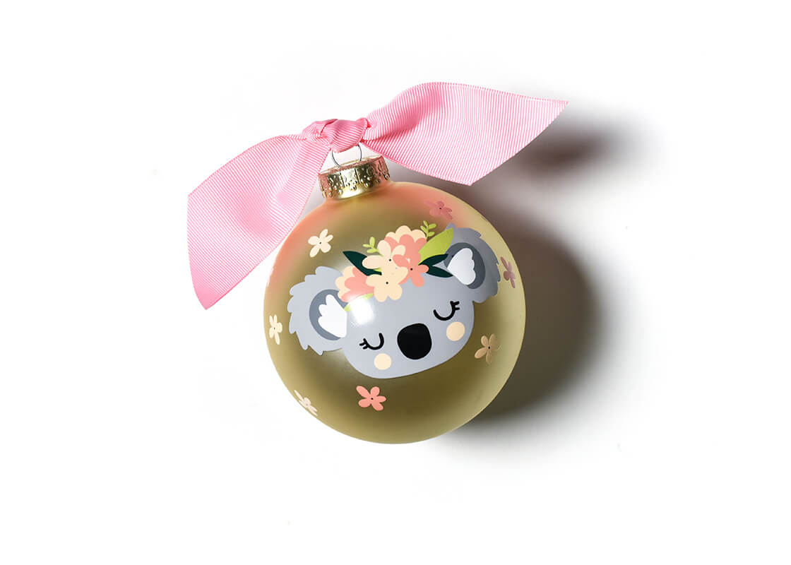 Koala Glass Ornament