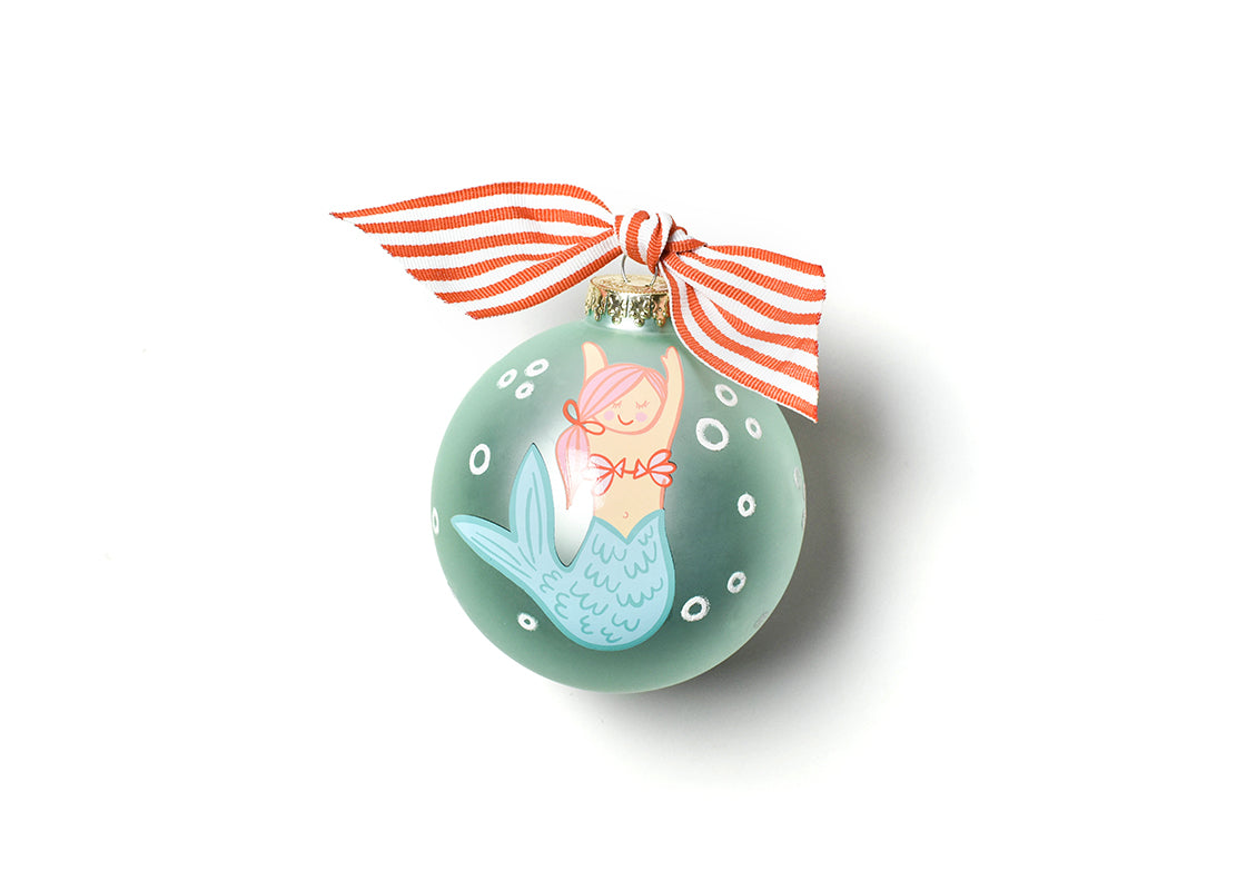 Mermaid Glass Ornament