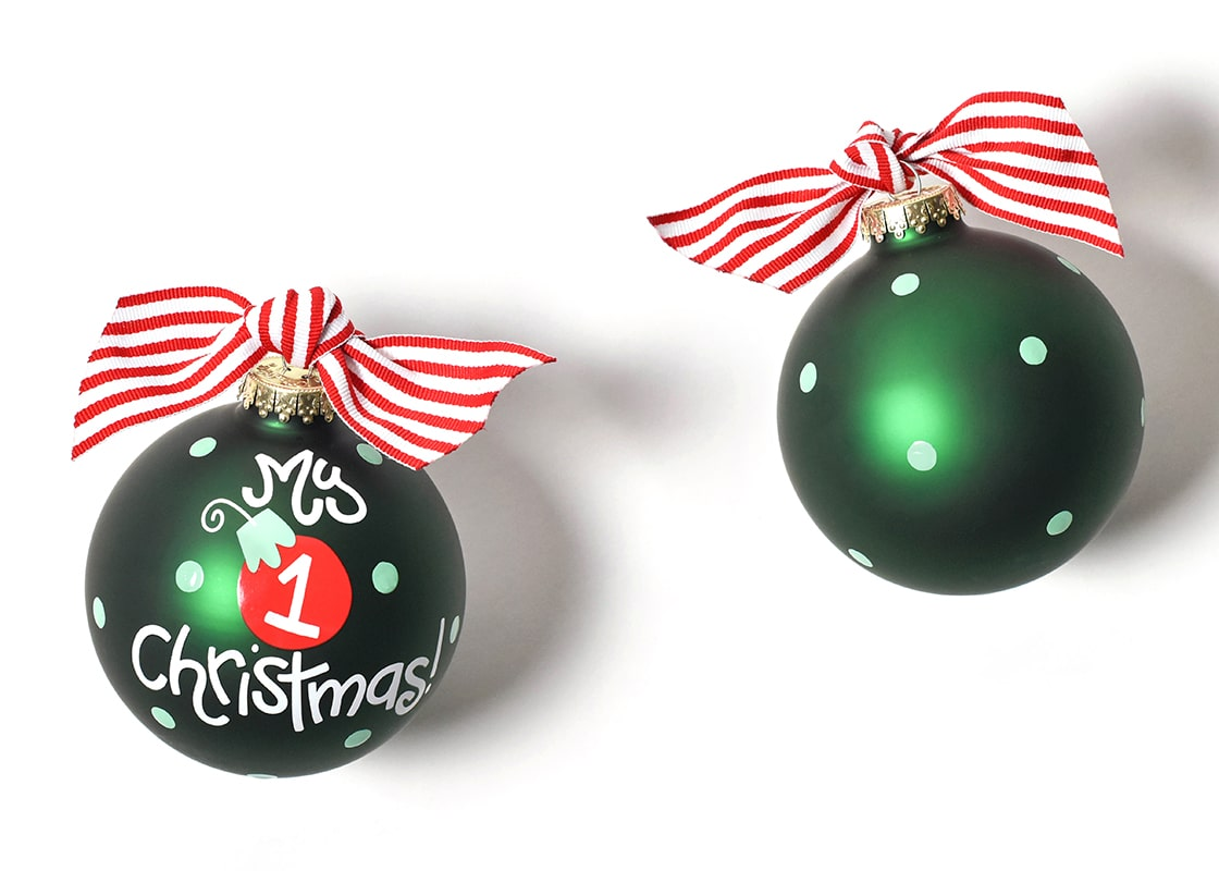 My First Christmas Ornament Boy Glass Ornament By Coton Colors Coton Colors By Laura Johnson