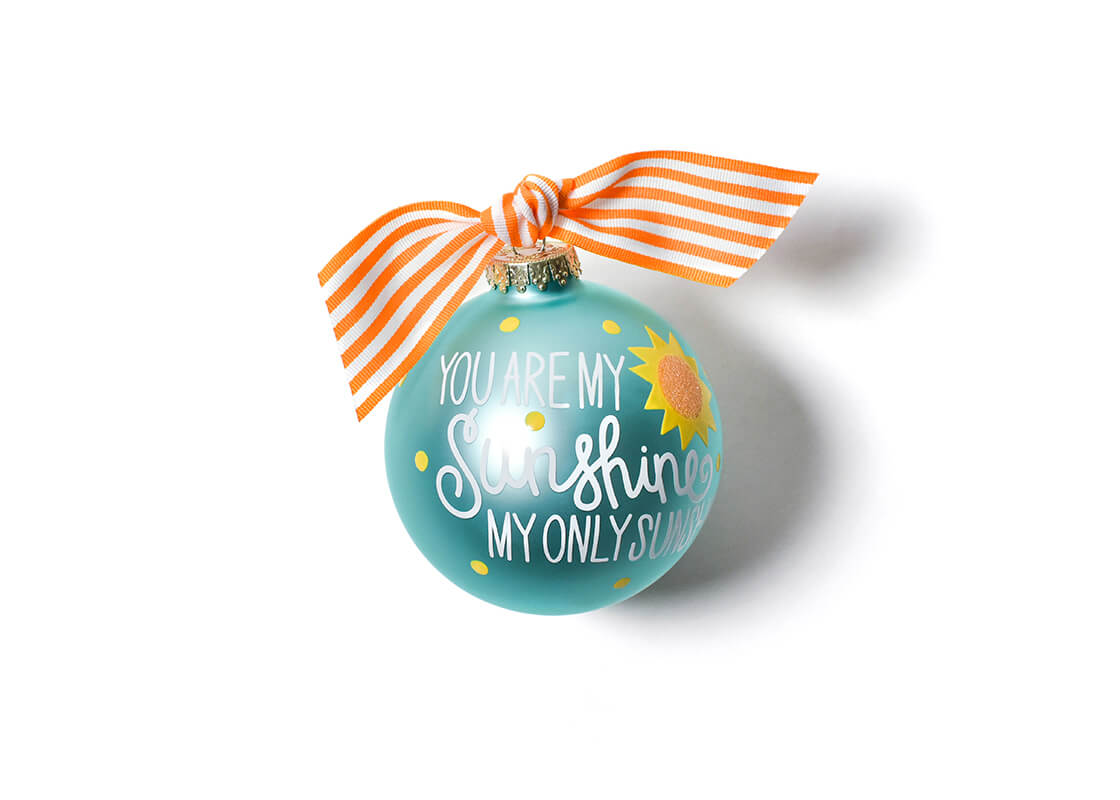 You Are My Sunshine Glass Ornament