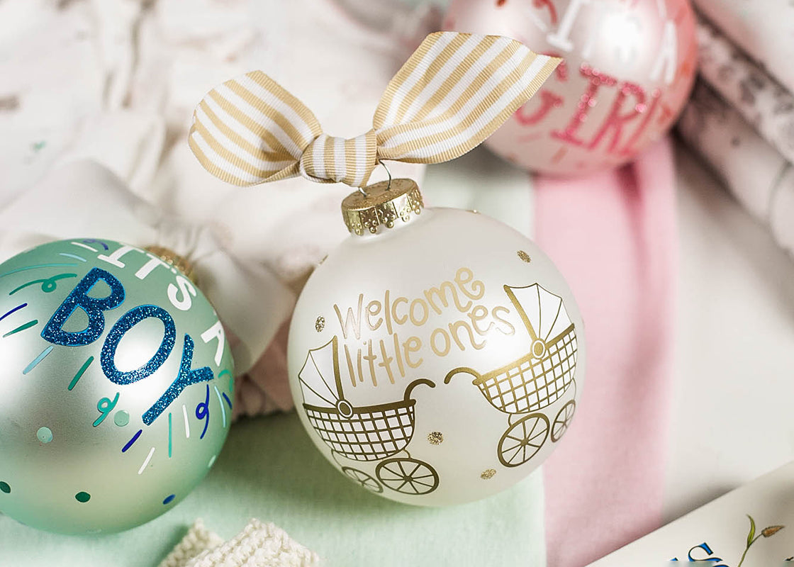 Welcome Little Ones Glass Ornament