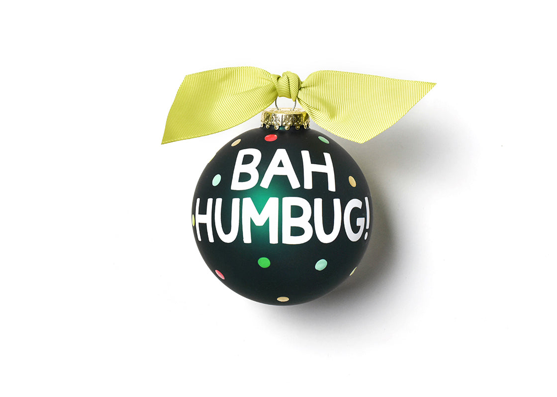 Bah Humbug Glass Ornament