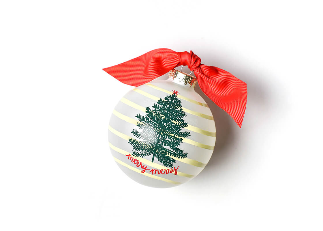 Merry Tree Glass Ornament