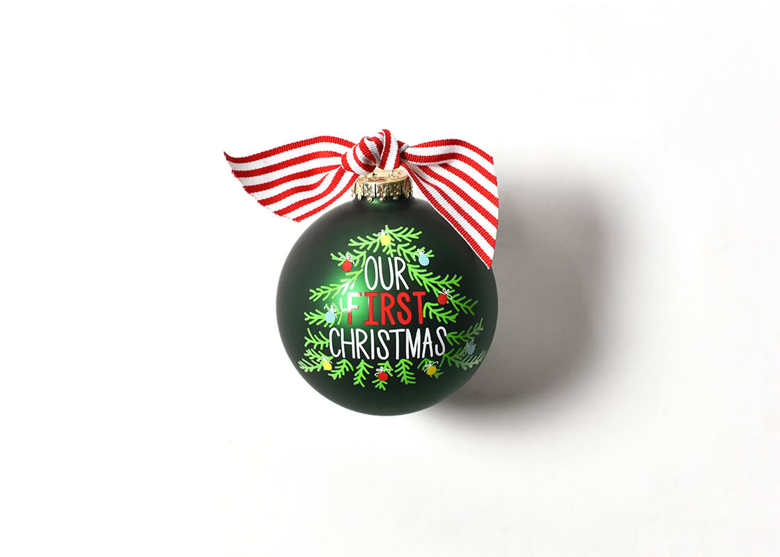 Our First Christmas Tree Glass Ornament