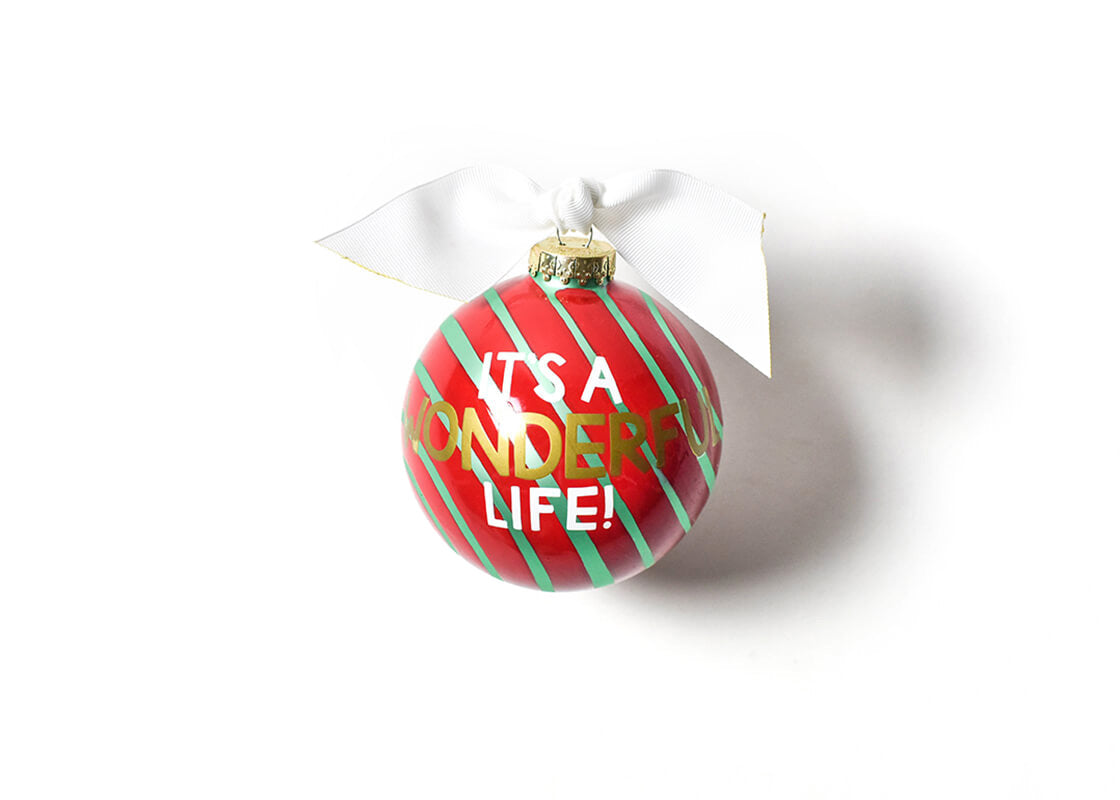 It's A Wonderful Life Glass Ornament