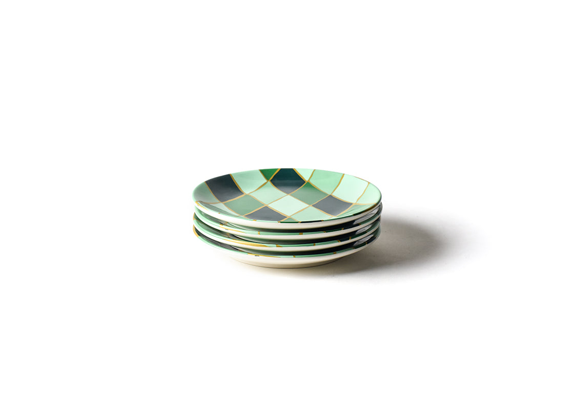 Emerald Diamond Salad Plate, Set of 4