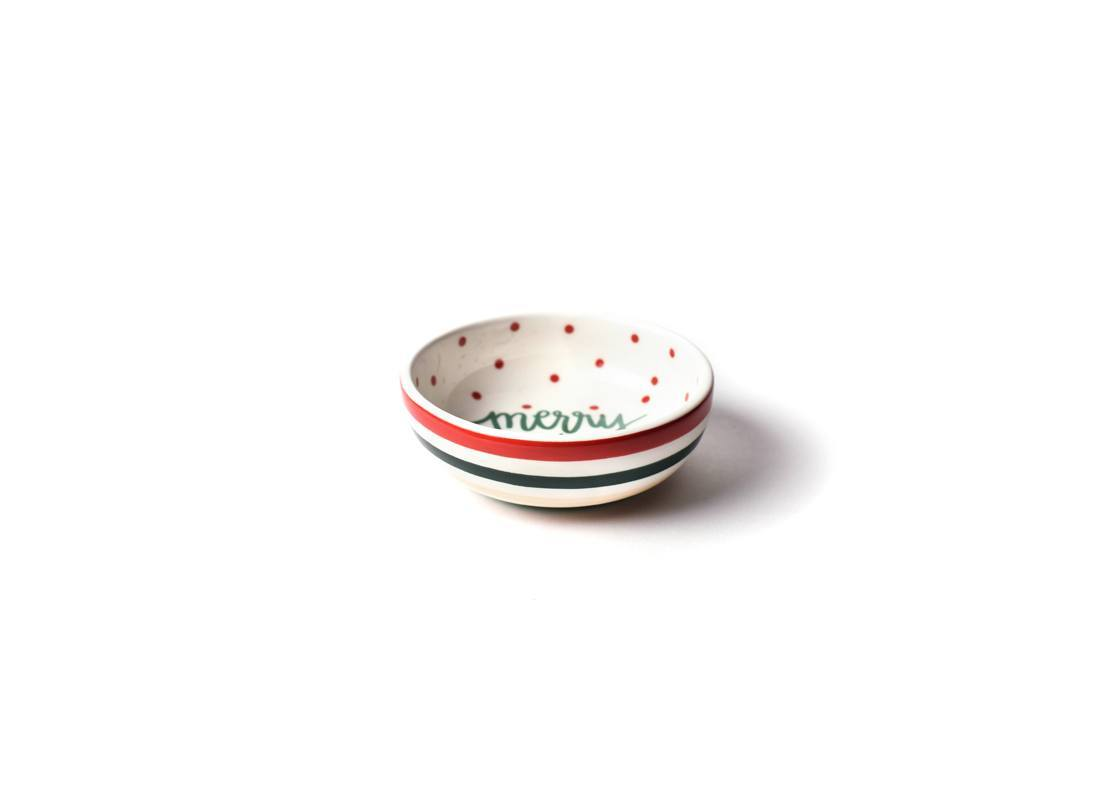 Merry Christmas Round Dipping Bowl