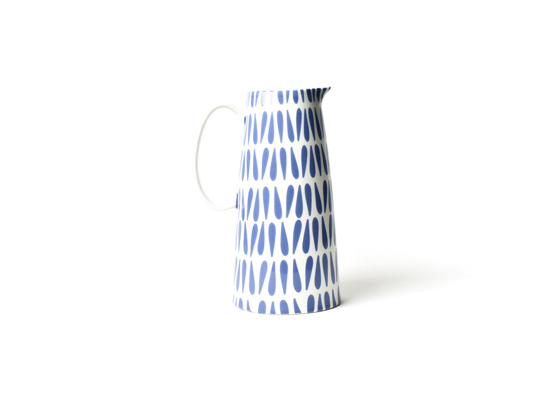 Iris Blue Drop Pedestal Pitcher