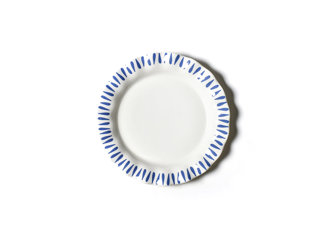 Iris Blue Drop Ruffle Dinner Plate