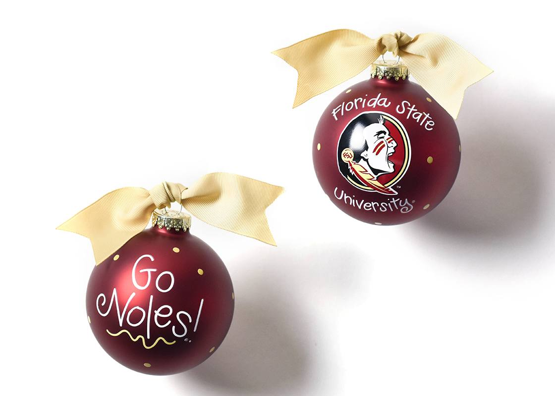 Florida State Logo Glass Ornament