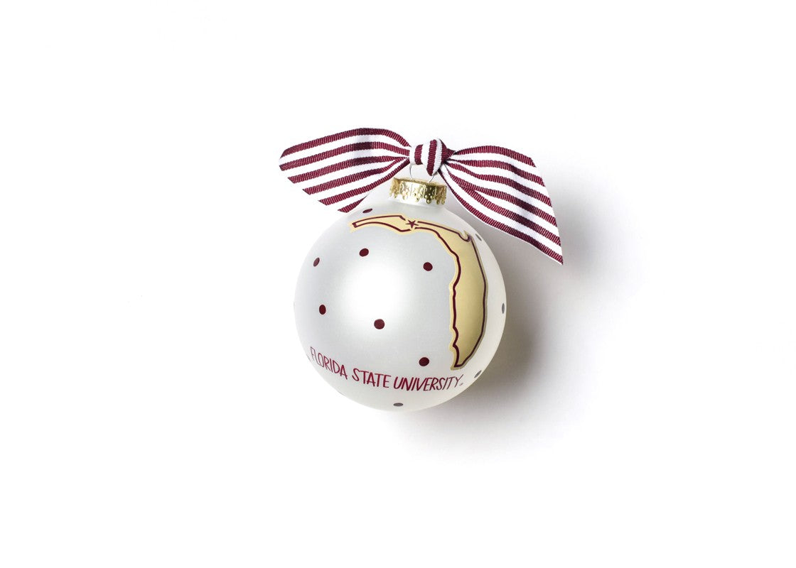 Florida State Glass Ornament - State