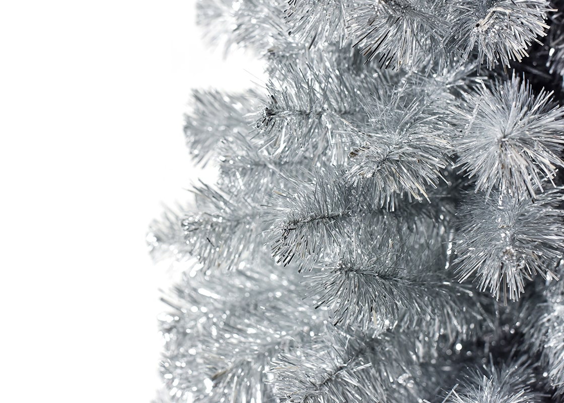 5-Foot Silver Tinsel Tree